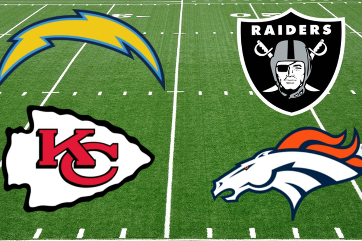 The Afc West Is The 2nd Best Division In Football Bolts