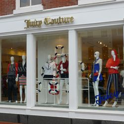 """Nautical, but still red, white, and blue at <a href=""""http://www.juicycouture.com/"""">Juicy Couture</a> in Georgetown."""