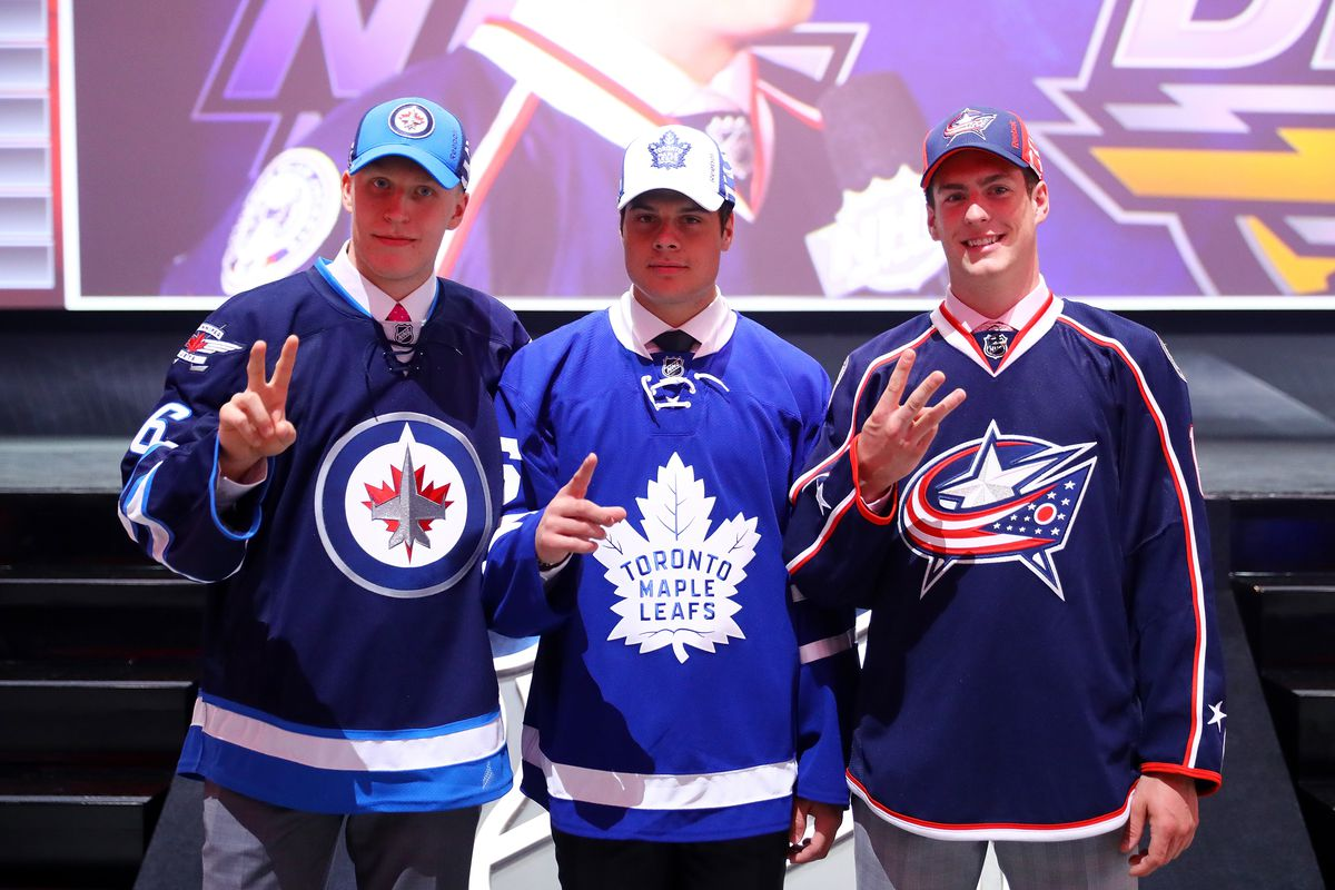 Two of the three top draft picks are on the ice in World Cup friendlies today.