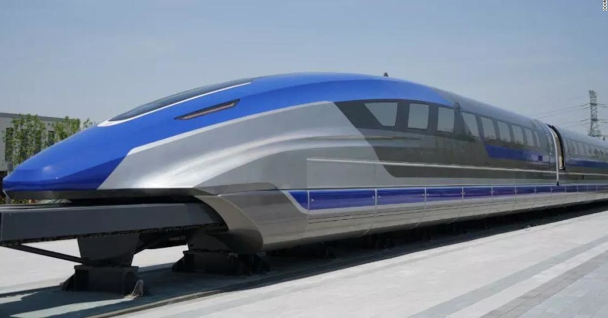 China unveils prototype maglev train with max speed of 373 mph