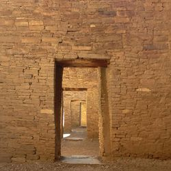 This August 2012 photo shows doorways at Pueblo Bonito, Chaco Canyon, in northwestern New Mexico.  Chaco Canyon, the center of a culture that flourished from the 800s to the 1100s, is run by the National Park Service and is accessible only via dirt road.