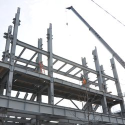 Another view of the jumbotron supports -