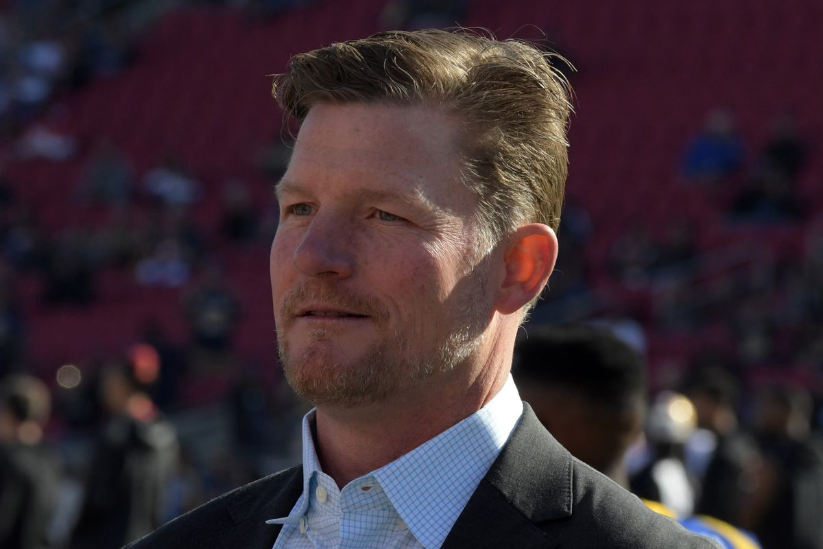 Los Angeles Rams General Manager Les Snead during a game against the San Francisco 49ers, Dec. 30, 2018.
