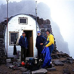 Ralph Tingey, Rick Reese and another National Park Service ranger stand on a foggy Mount Rainier in 1995. Tingey was conducting an official NPS investigation into the accidental deaths of two park rangers.