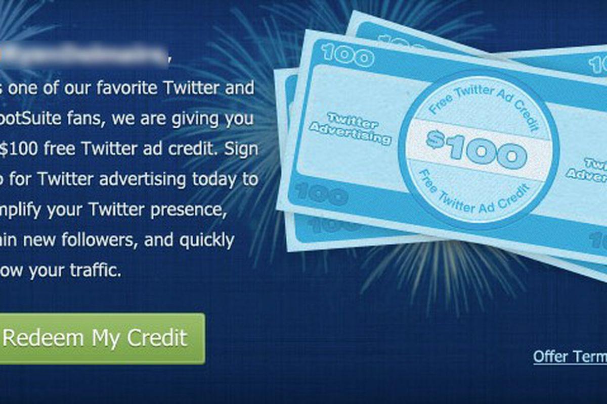 Twitter HootSuite advertising promo