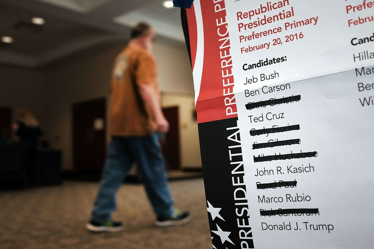 By the time people got to vote in the Republican presidential primary in South Carolina, many candidates had already dropped out.