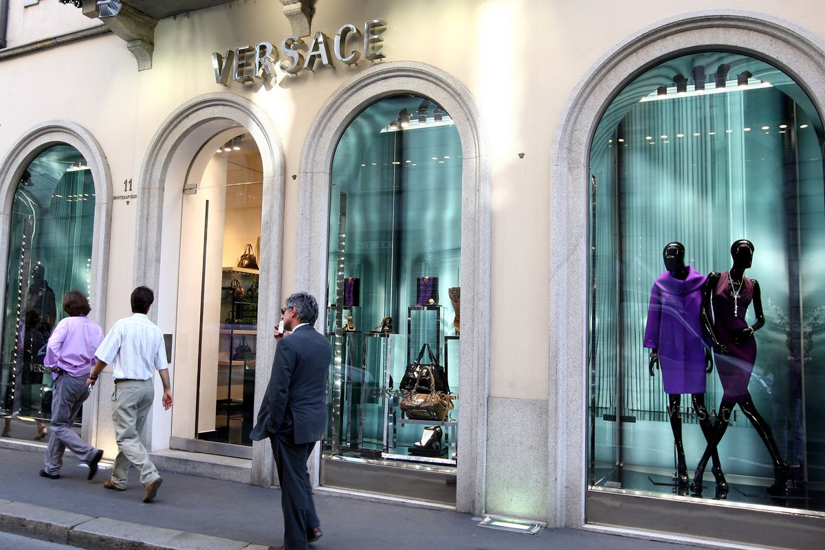 A Versace store in Milan. Photo: Getty