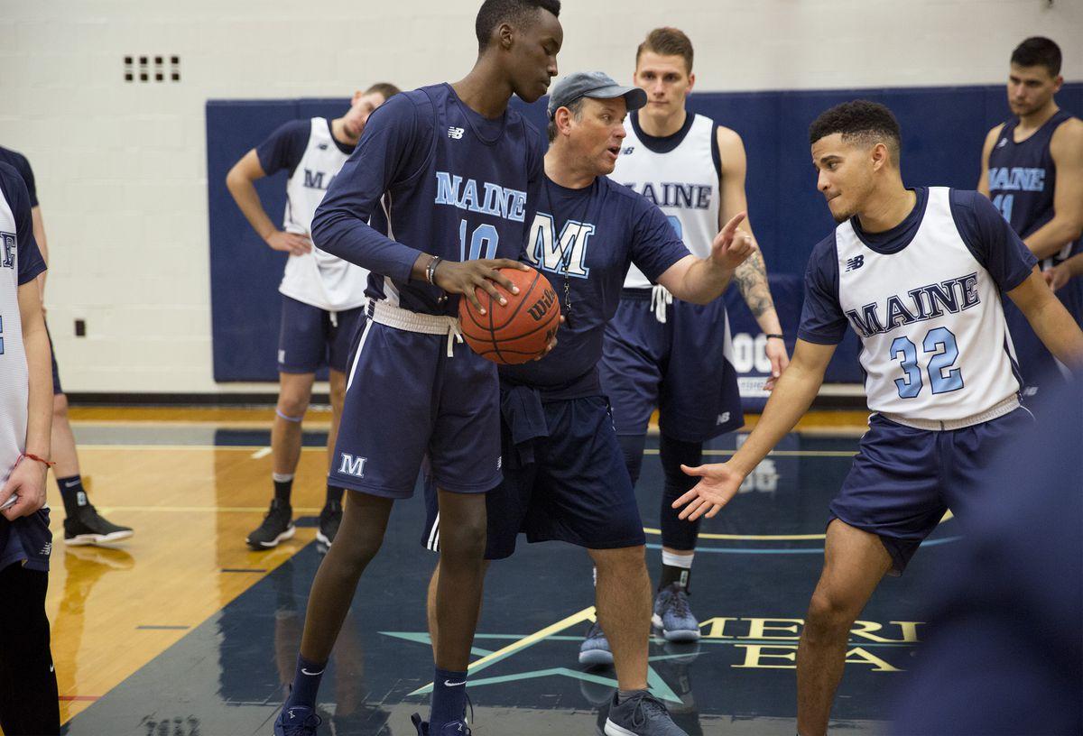 U Maine Basketball First Practice