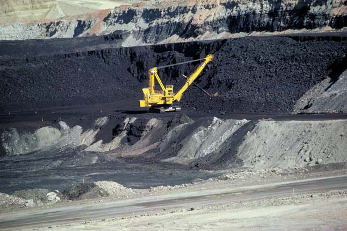 A Wyoming coal strip mine.