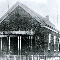 The LDS Morgan Tabernacle around 1880.