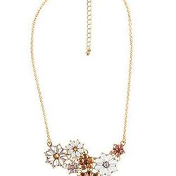 """Forever 21, <a href= """"http://www.forever21.com/Product/Product.aspx?BR=f21&Category=acc_necklace&ProductID=1011409703&VariantID""""> Flower Medley Necklace</a>, $5.80"""