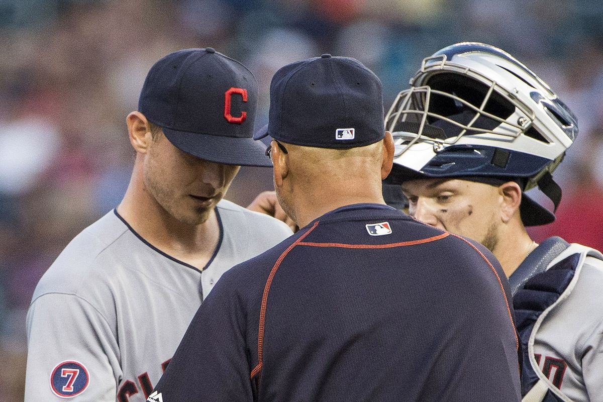 Josh Tomlin pitched well in his 2015 debut