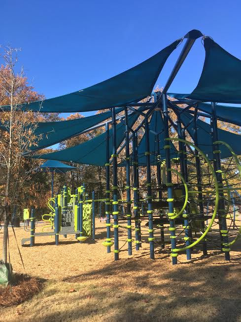 New playground equipment at a park named for famous Kathryn Johnston.