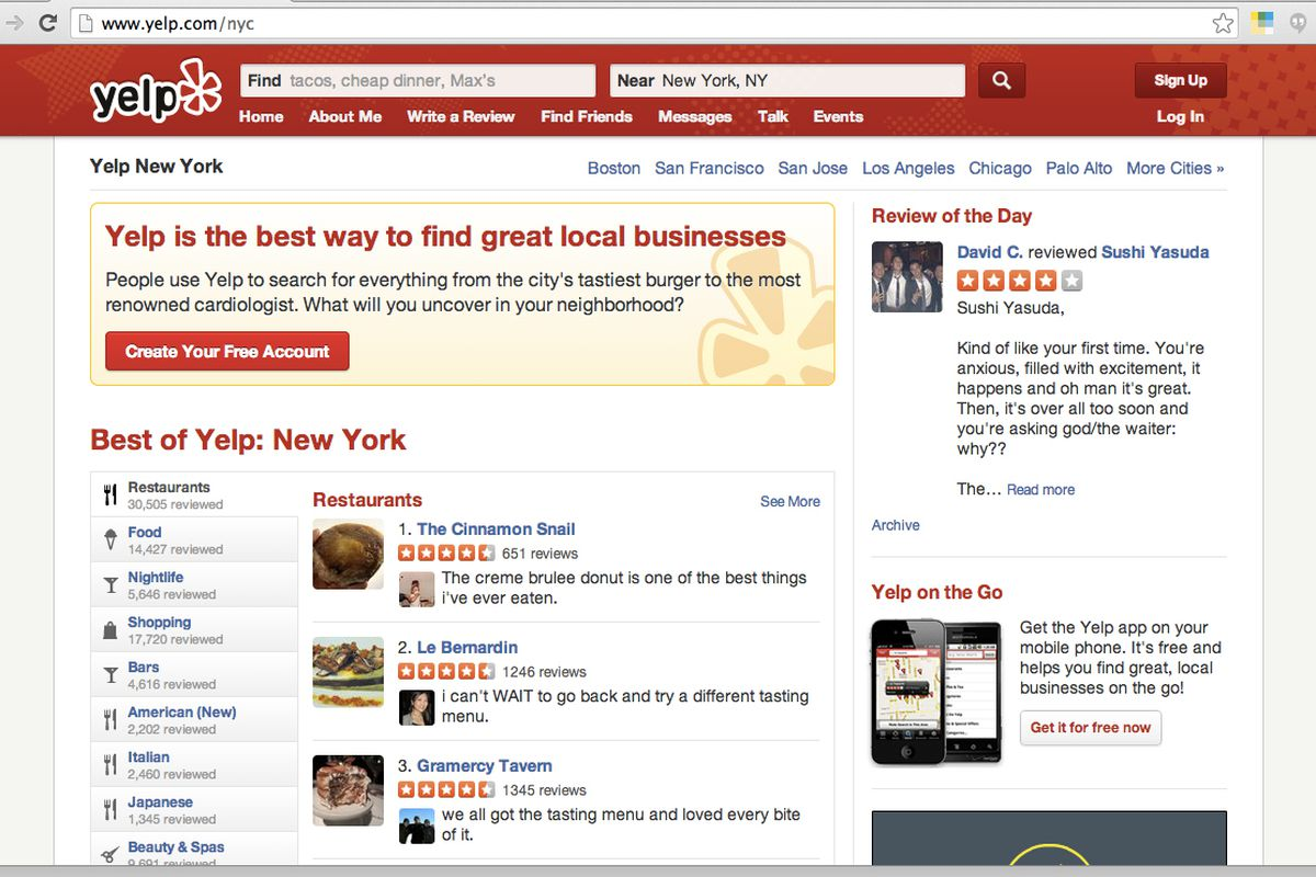 Restaurant reviews yelp - Looks Like Yelp Is Useful For More Than Posting Scathing Restaurant Reviews According To A Report Published By The Centers For Disease Control And