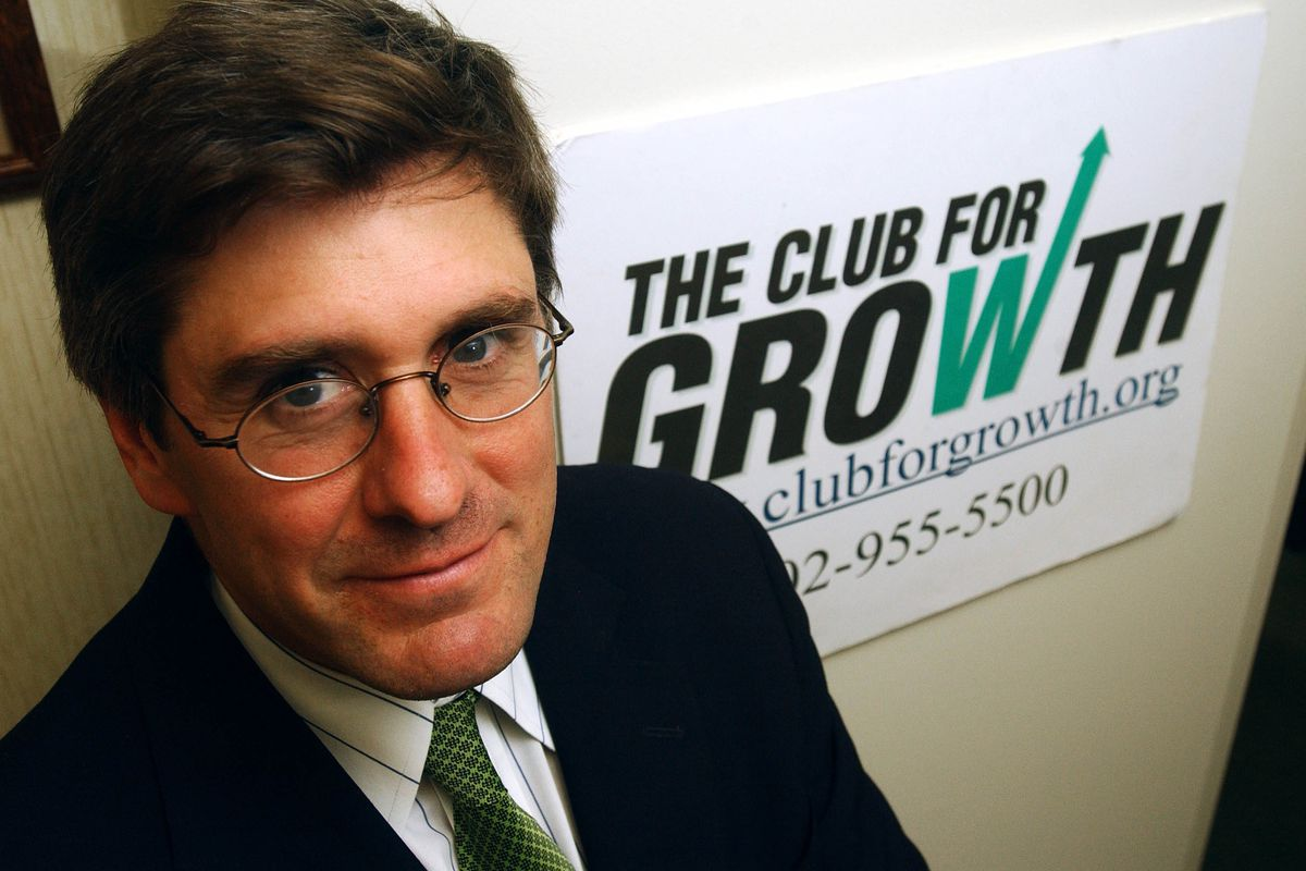 Stephen Moore in 2003, when he served as president of the Club for Growth, an anti-tax group he cofounded in 1999.