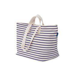 "<b>Baggu</b> Canvas Weekend Bag in sailor stripe, <a href=""https://baggu.com/shop/canvasweekendbag/sailorstripe"">$72</a>"