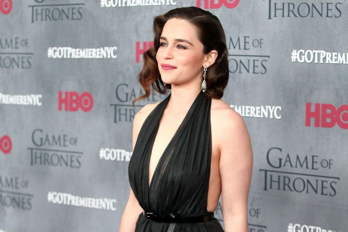 Actress Emilia Clarke, who plays Daenerys Targaryen on Game of Thrones. Image via Getty.