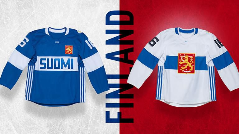 98539899f34 The Finland coat of arms -- which looks identical to the Czech Republic --  is way out of place on the home jersey ...