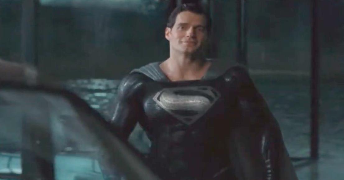 black suit Superman scene from Justice League