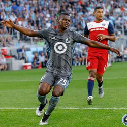July 13, 2019 - Saint Paul, Minnesota, United States - Minnesota United forward Darwin Quintero (25) is left frustrated at a missed goal scoring opportunity during the match against FC Dallas at Allianz Field.