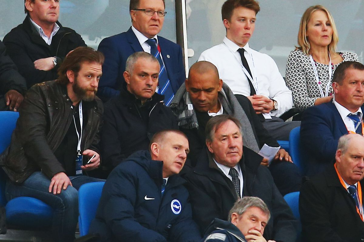 Jose Mourinho watching the Game of the Week
