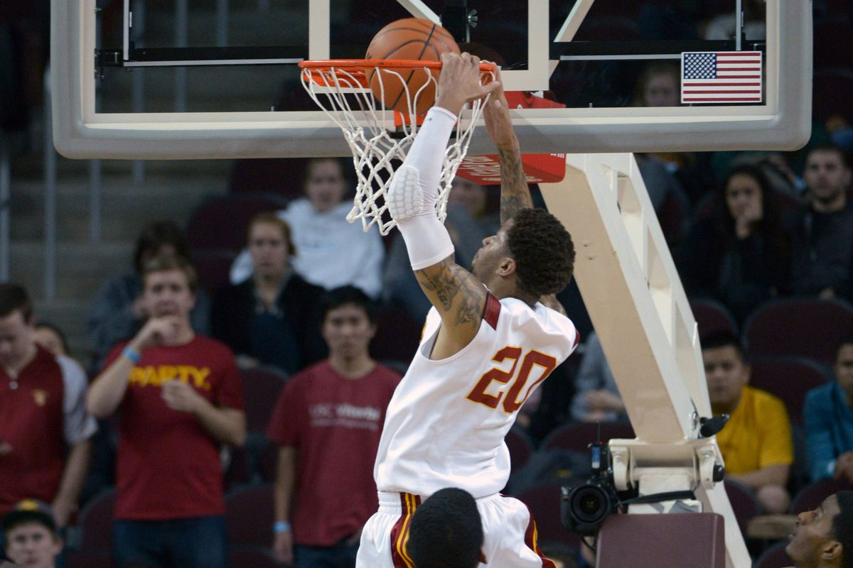 JT Terrell slams home an alley oop from Byron Wesley.