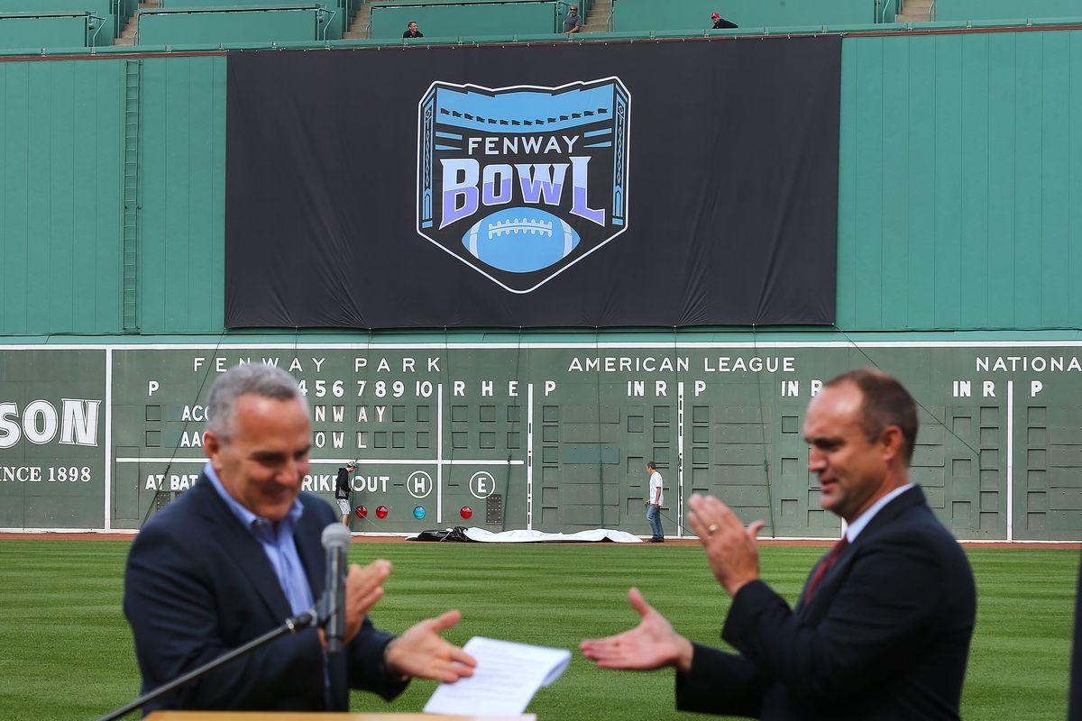 Announcement Of Fenway Bowl At Fenway Park