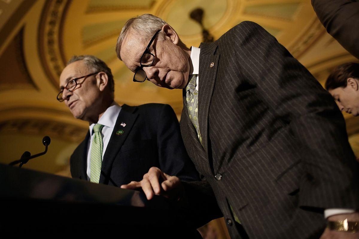 Sen. Chuck Schumer (D-NY) and Senate Minority Leader Harry Reid (D-NV)