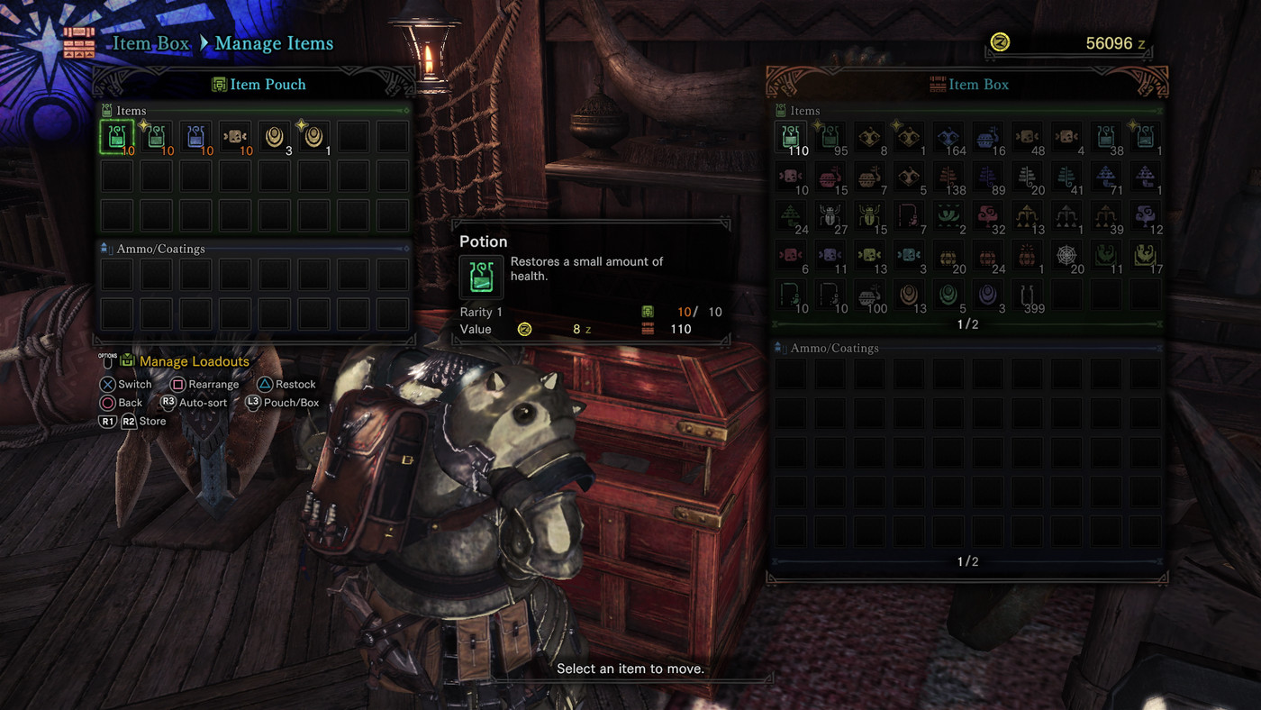 Monster Hunter: World guide: Item management, item pouch and