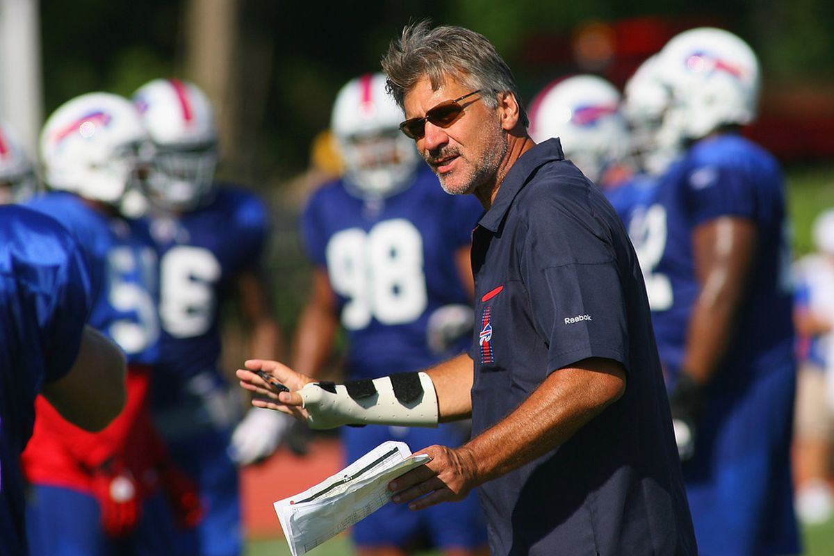 Dave Wannstedt helped bring Scott McKillop on board with the Bills (Photo by Rick Stewart/Getty Images)