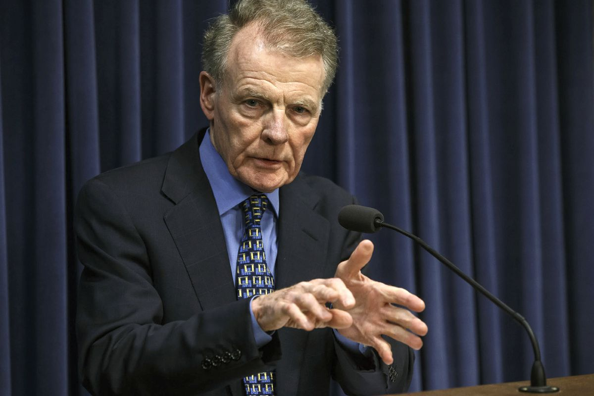 Illinois House Speaker Michael J. Madigan, who also runs the Illinois Democratic Party that is backing the Democratic rival of GOP state Rep. Bradley Stephens in the Nov. 3 election.