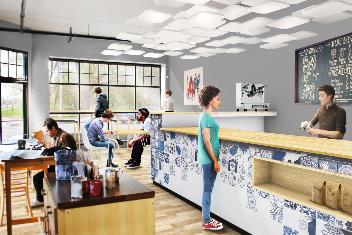 A rendering of the proposed changes to Cafe Con Leche's Southwest location.