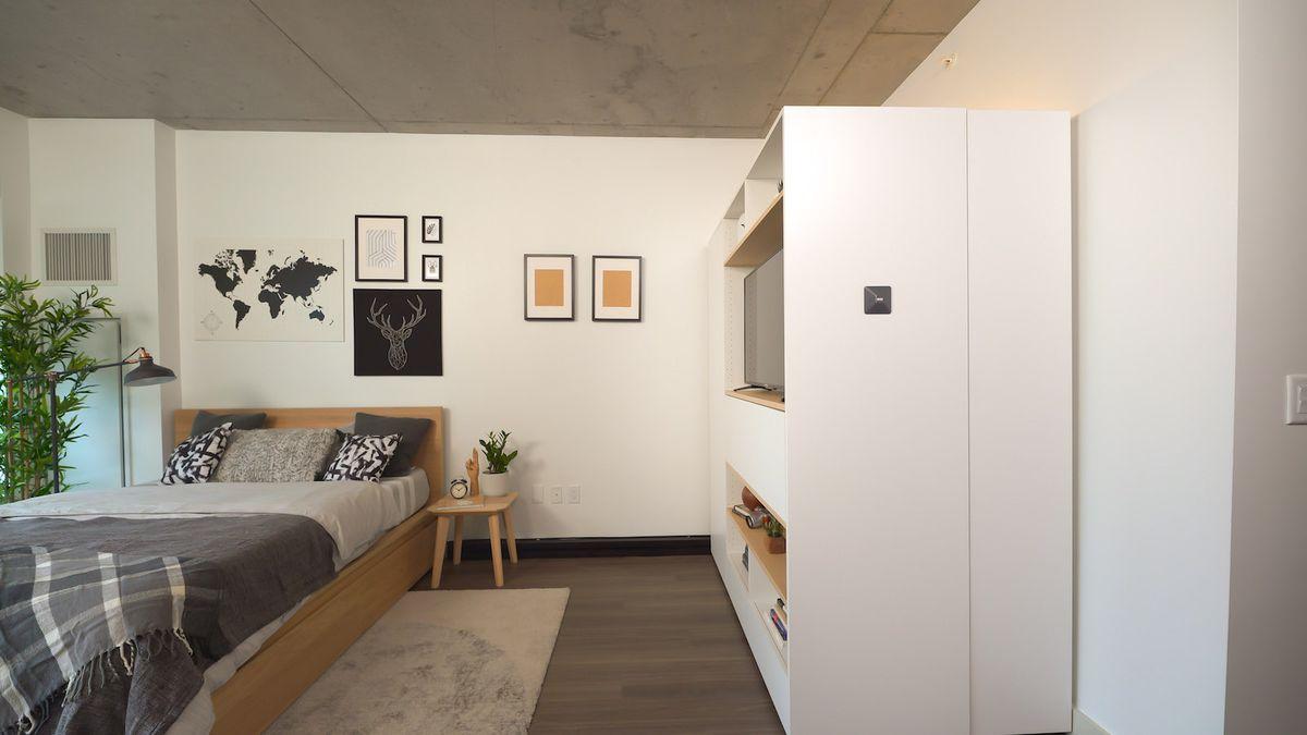 Shelf with TV