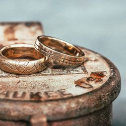 """The <a href=""""https://www.digbyandiona.com/ties-that-bind-ring"""">Ties That Bind Ring</a> ($150, bottom) and the <a href=""""https://www.digbyandiona.com/ruler-ring"""">Ruler Ring</a> ($150)"""