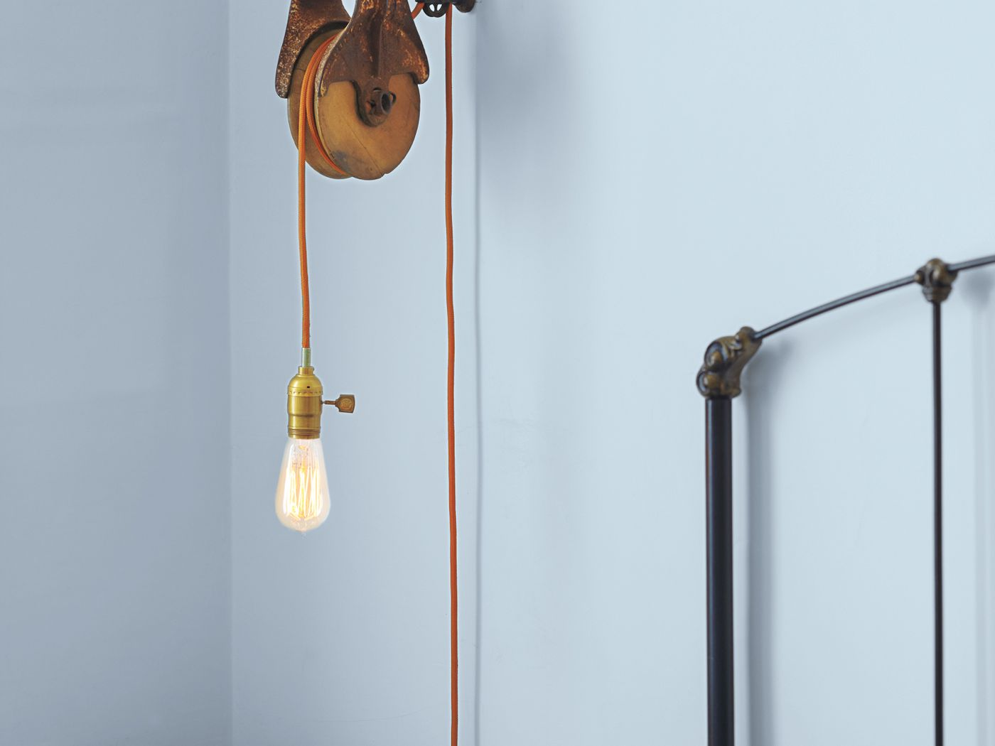 How To Use A Barn Pulley To Make A Wall Mount Light Fixture This Old House