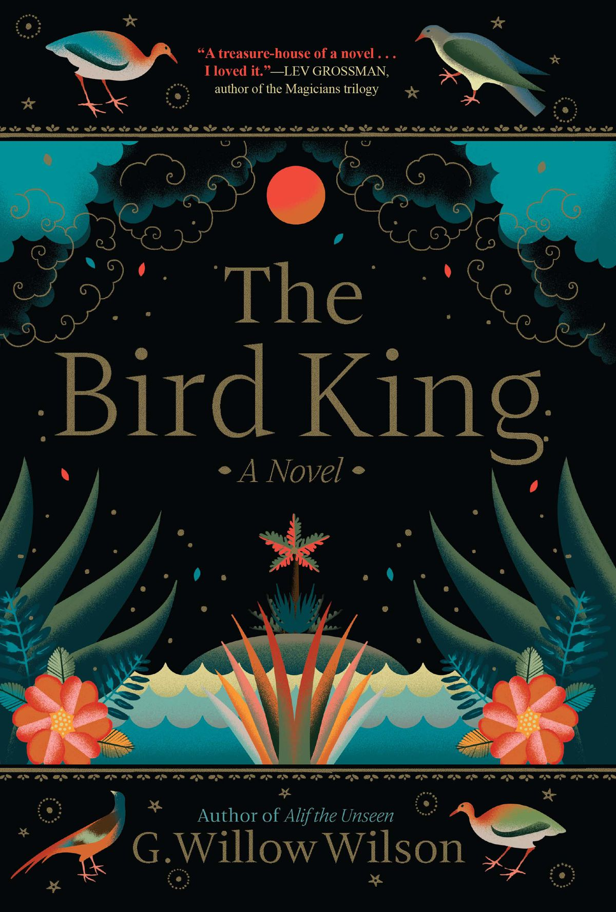 The Bird King by G. Willow Wilson cover: birds and designs swirl