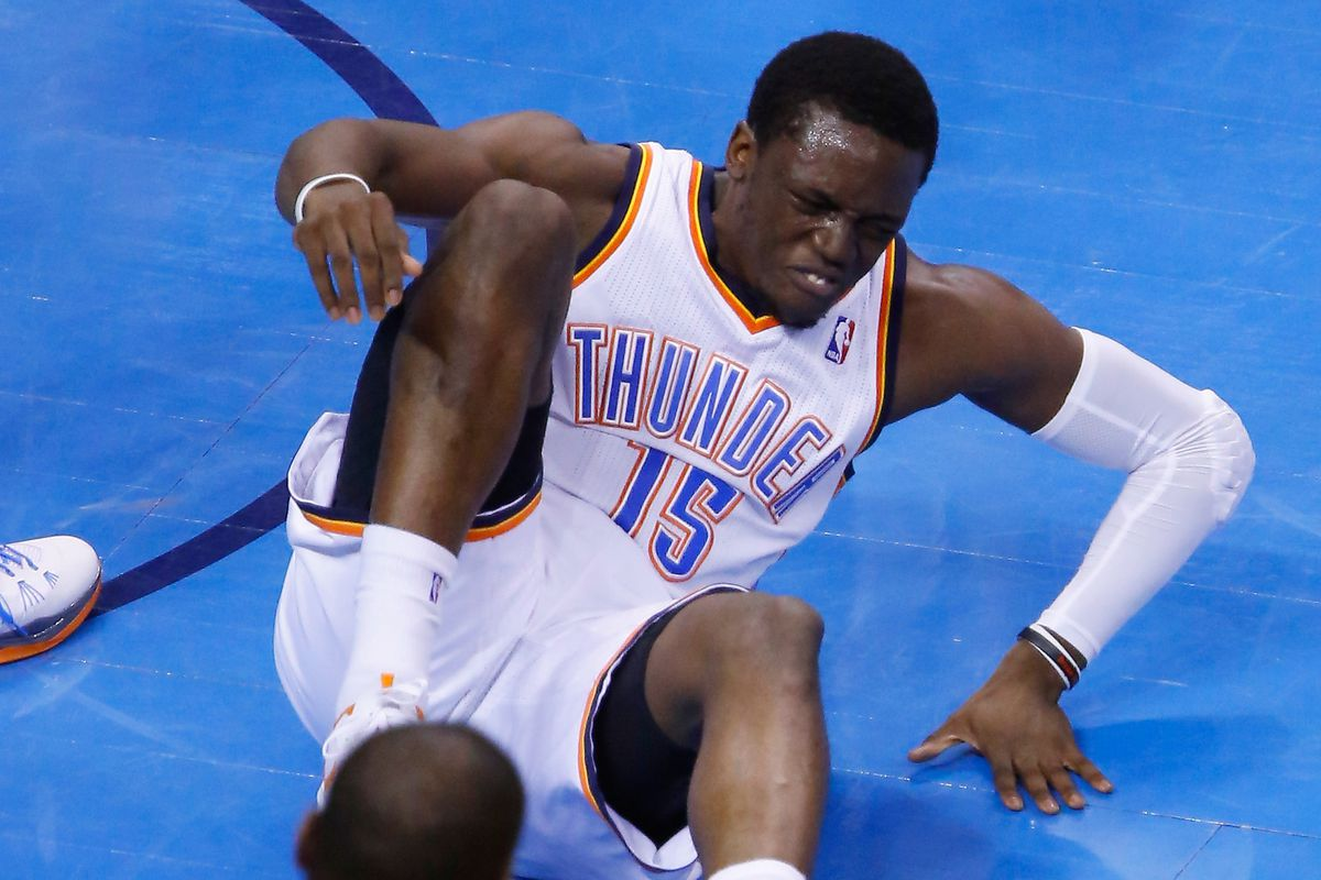 Not a photo of Reggie Jackson's current injury, but another previous ankle-related issue.