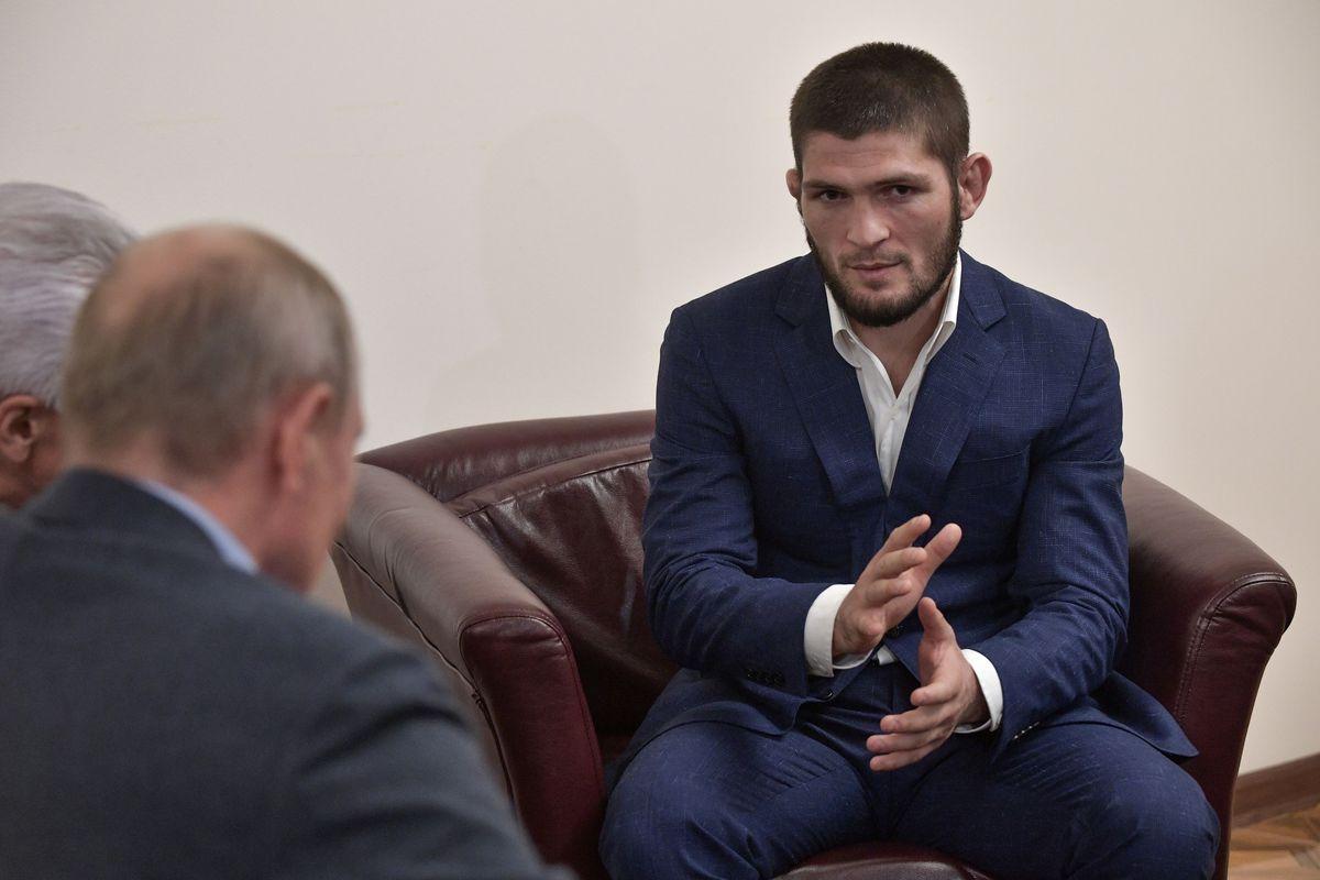 Midnight Mania! Vladimir Putin and Khabib Nurmagomedov discuss the finer points of UFC 242