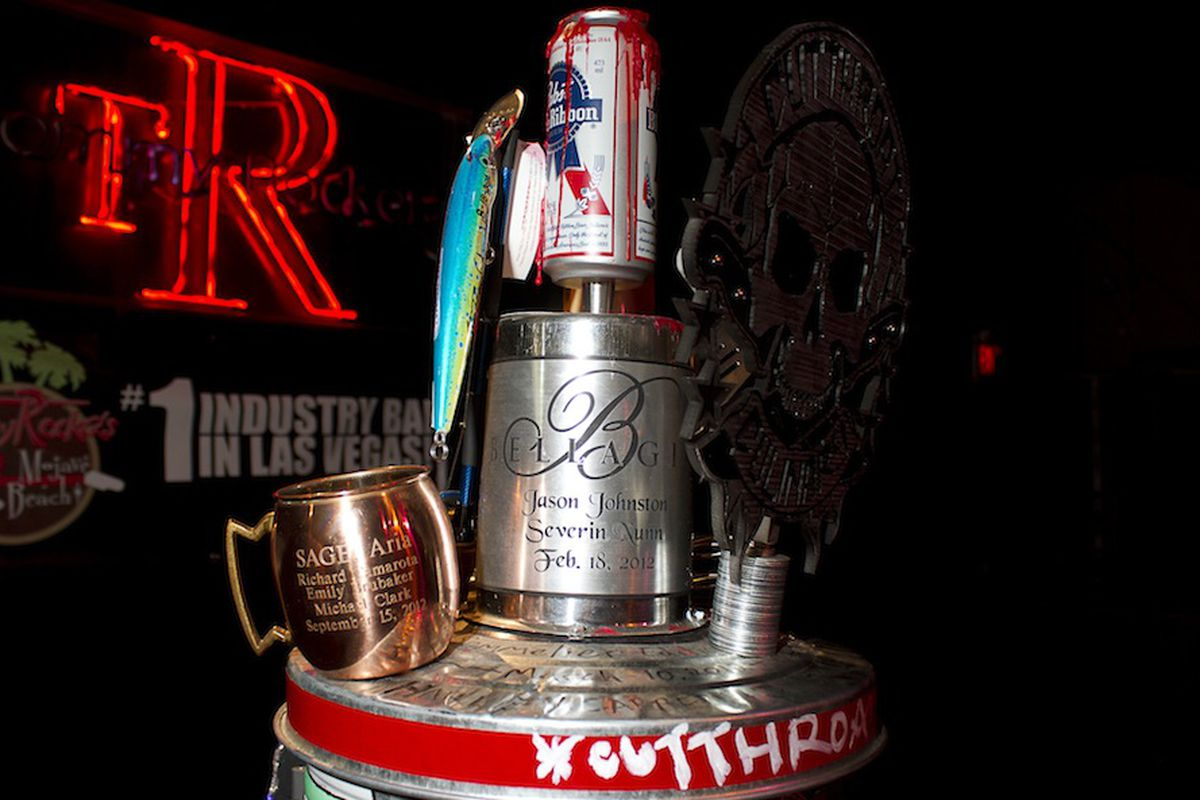 The former PBR trophy for the Back of the House Brawl.