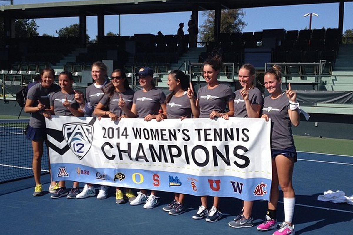 Golden Bears are the 2014 Pac-12 Women's Tennis champs!