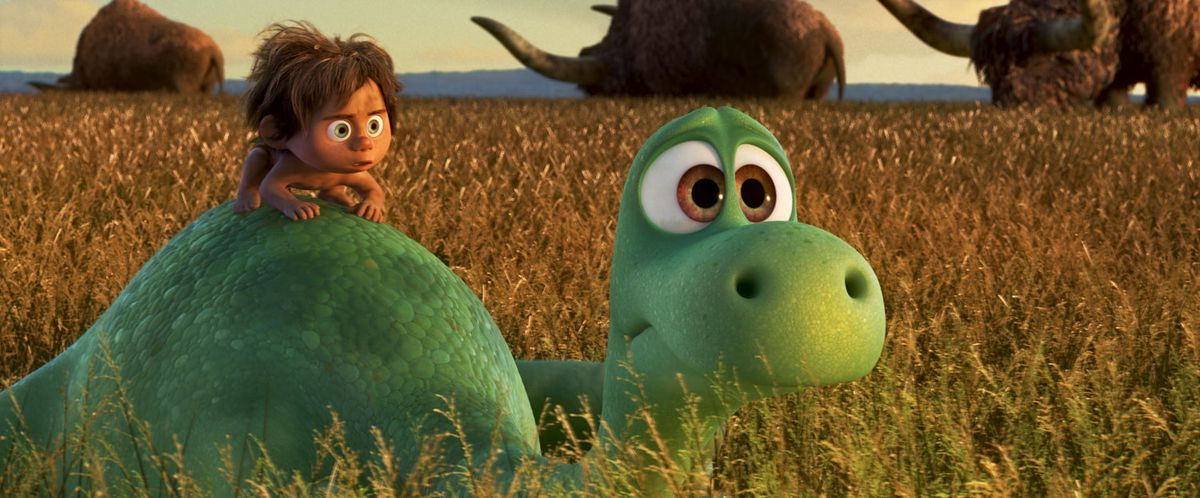 Arlo and Spot in The Good Dinosaur
