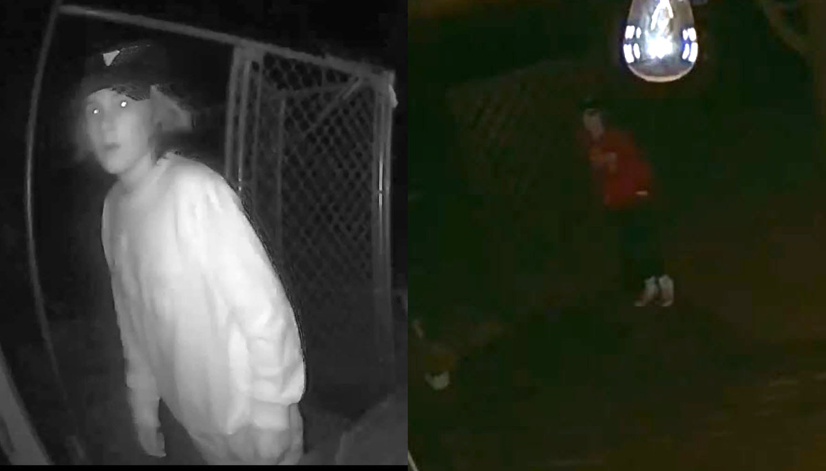 Police released a surveillance still of a person trying to break into a home in the 700 block of South River Road.
