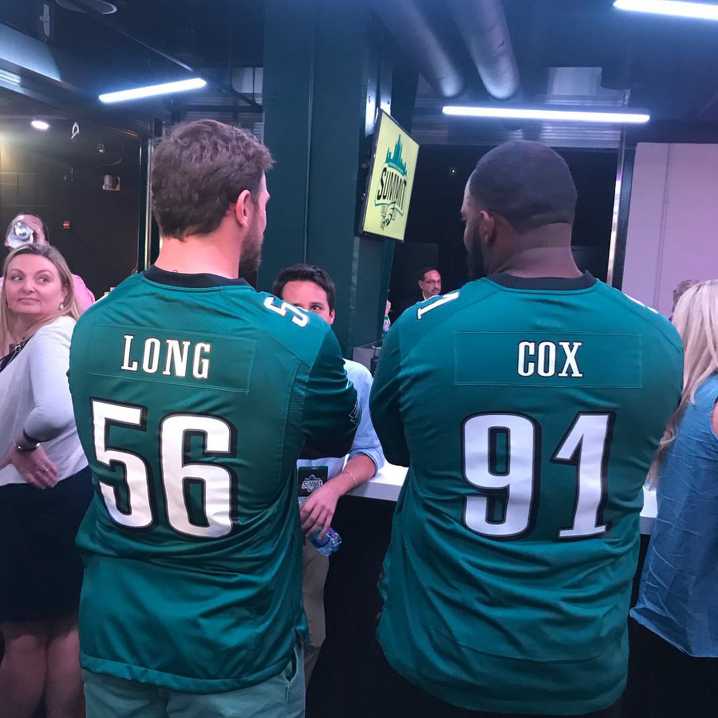 "new style 7c0db 7c1f1 We have our first spotting of ""Long Cox"" in Eagles jerseys ..."