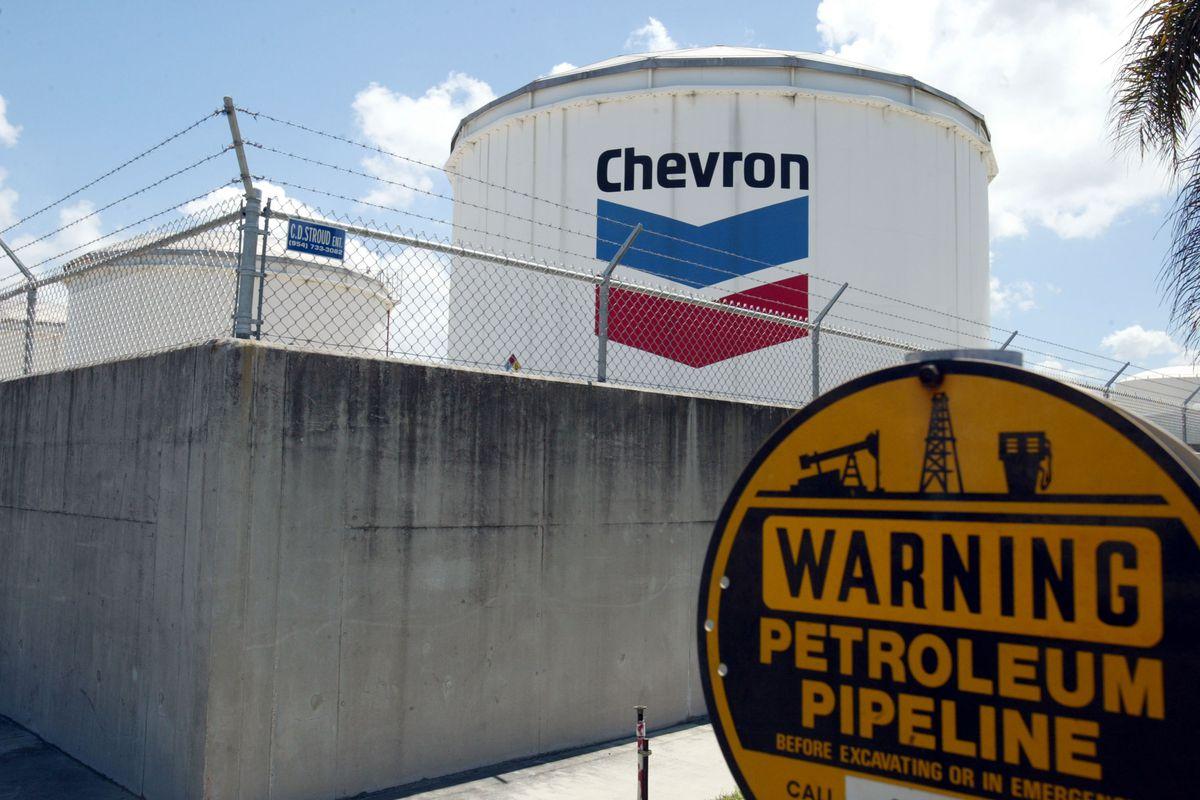 Chevron Petroleum Storage Tank