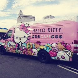The Hello Kitty Cafe doled out sweet treats, like cake pops, macarons, and more.