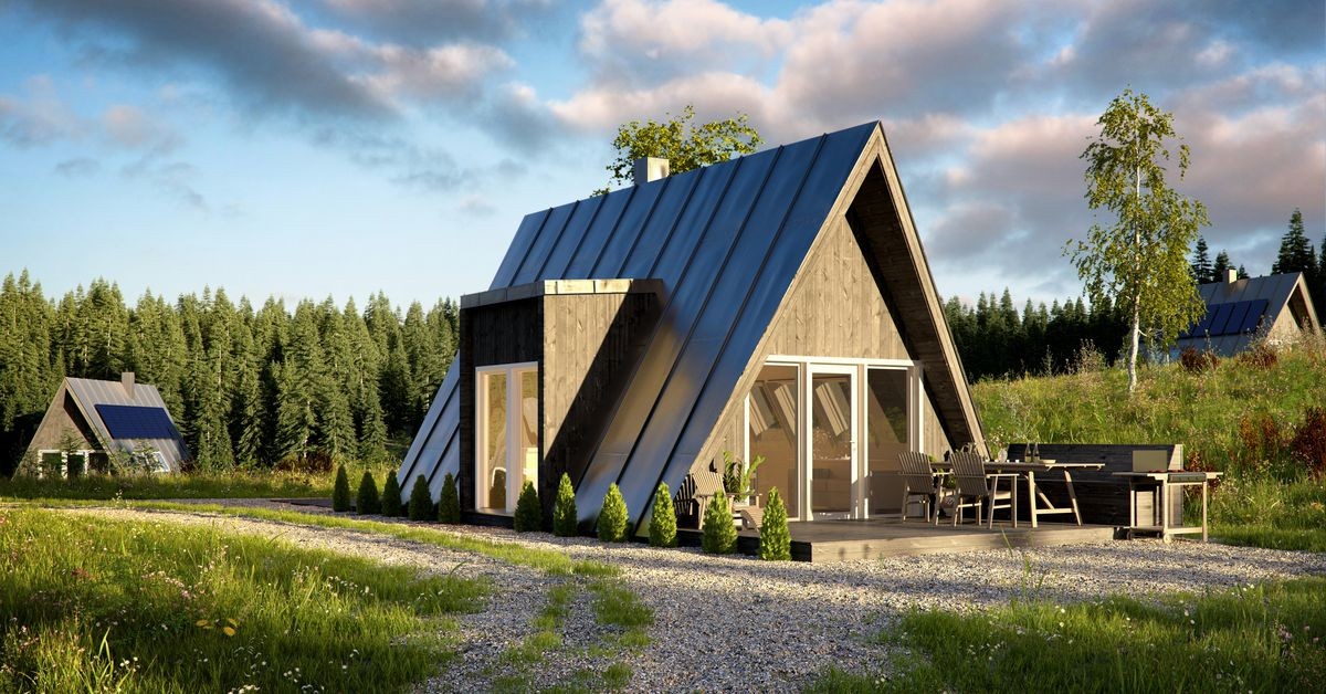 A-frame house kits offer affordability and quick build time - Curbed