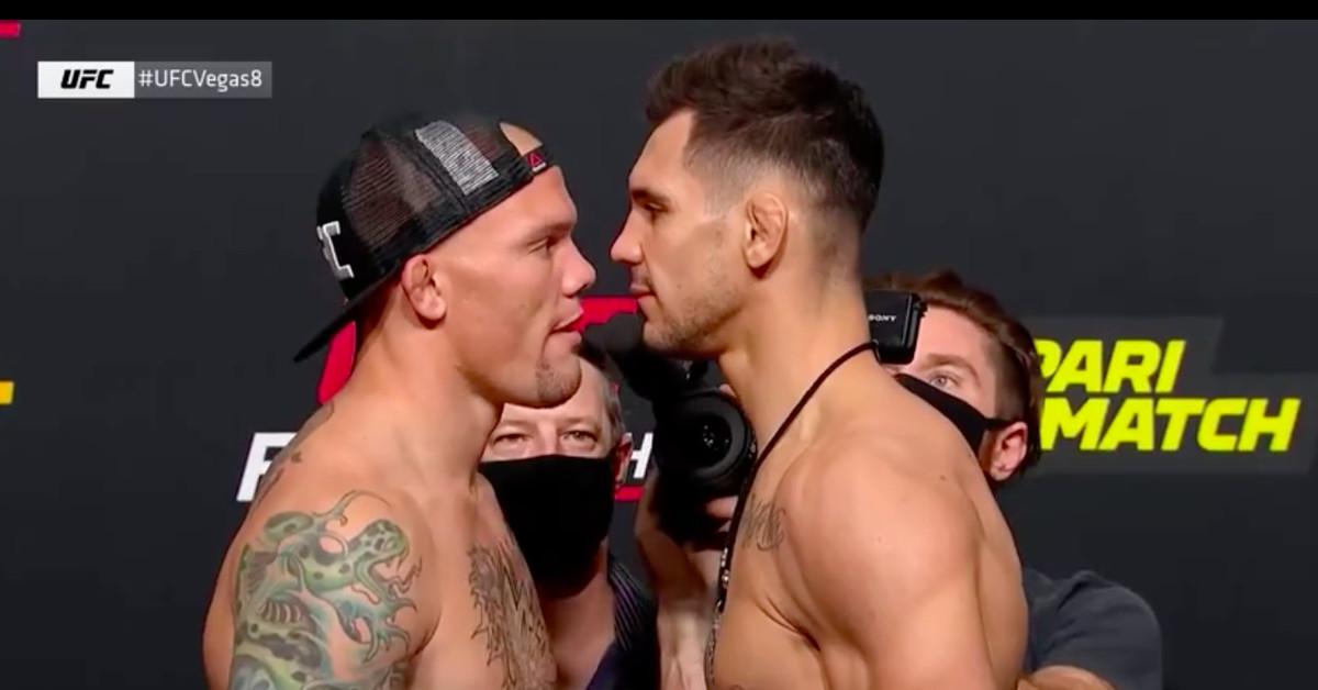 Video: UFC Vegas 8 weigh-in staredowns