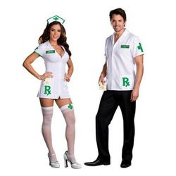 """If you're looking for an edgier update of the classic slutty nurse costume, try """"Dr. Herb Smoker"""" and """"Medical Mary Jane."""""""