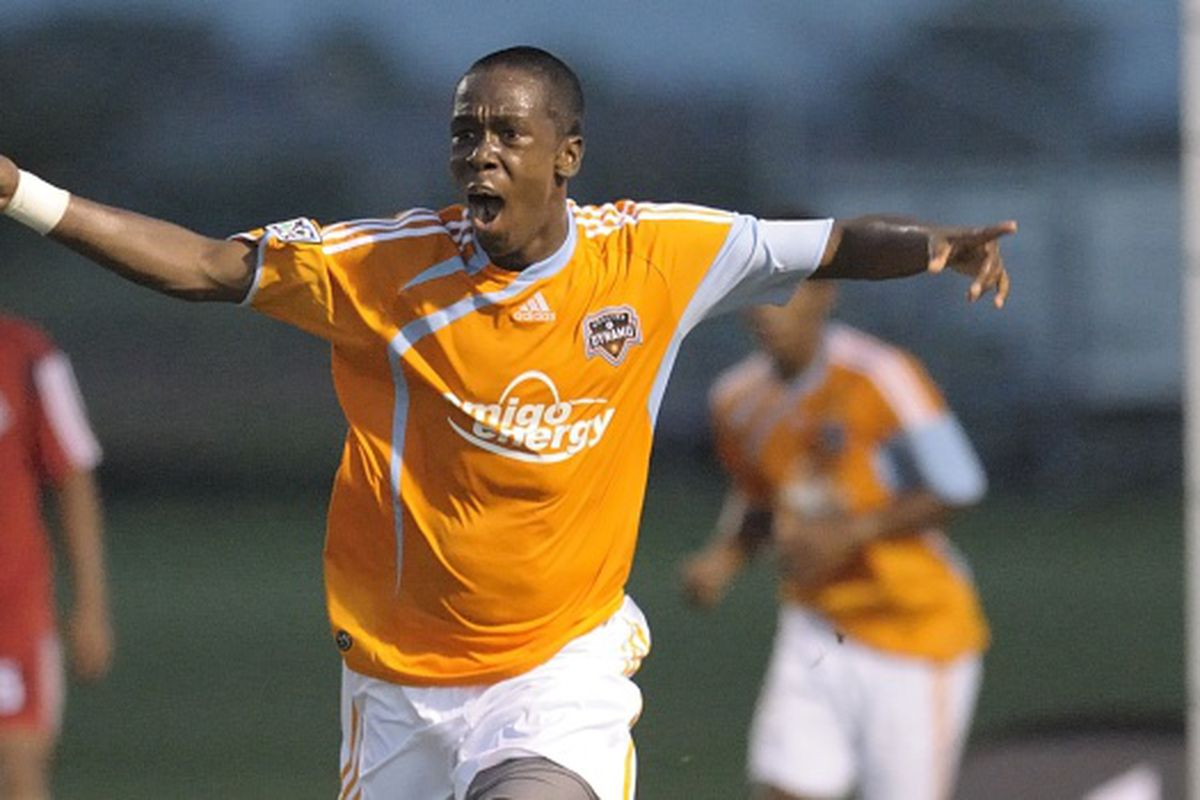 Houston Dynamo Academy and Kingwood Park High School forward, Isaiah Noreiga, has been named to the Trinidad & Tobago roster for the 2011 CONCACAF U-17 Championships.  (Photo credit: Wilf Thorne, Houston Dynamo)