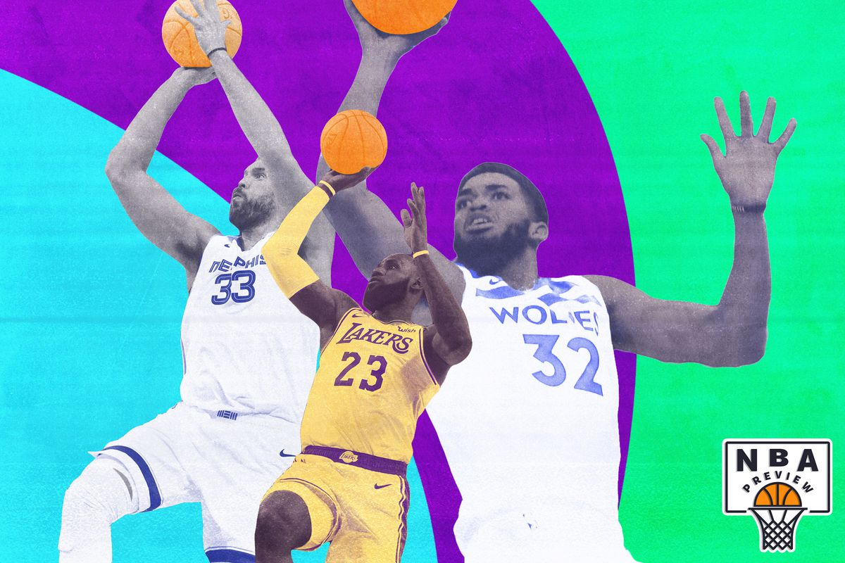 Marc Gasol, LeBron James, and Karl-Anthony Towns